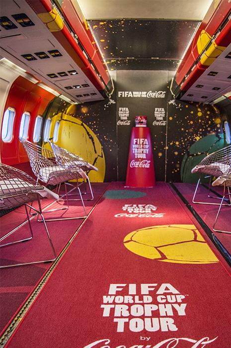 Moquette personnalisée sur le thème de la Coupe du Monde Fifa et de Coca-Cola