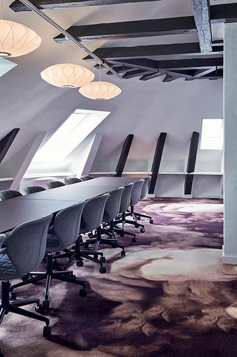 Moquettes mur à mur ege pour bureaux à Copenhague